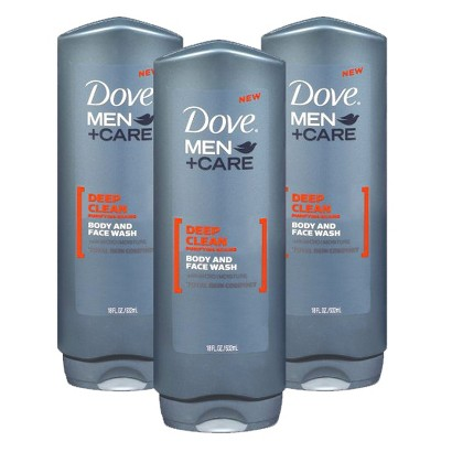 Dove Men Deep Clean Body Wash Set - 3 Pack