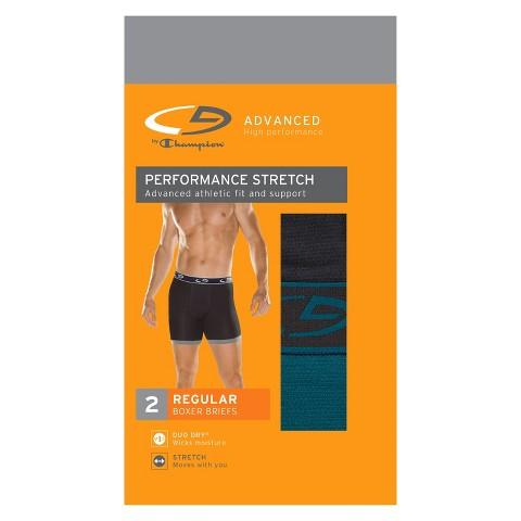 C9 by Champion® Men's 2pk Performance Stretch Boxer Briefs - Black/Blue