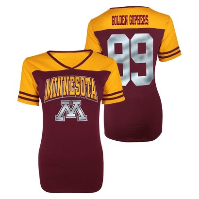 Minnesota Gophers Juniors V-Neck Maroon