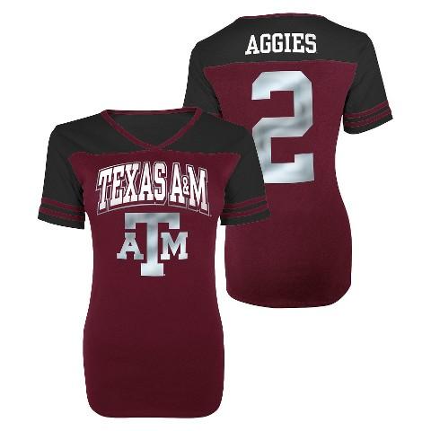 Juniors' Texas A&M Aggies V-Neck Shirt - Maroon