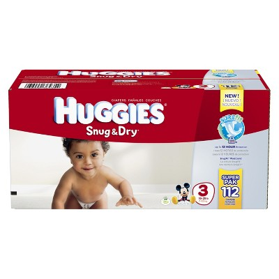 HUGGIES® Snug & Dry Diapers Super Pack Size 3 (112 count)