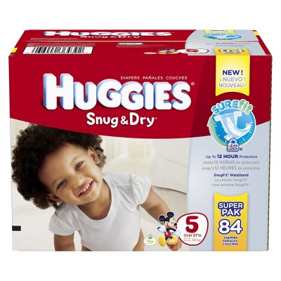 HUGGIES® Snug & Dry Diapers Super Pack Size 5 (84 count)