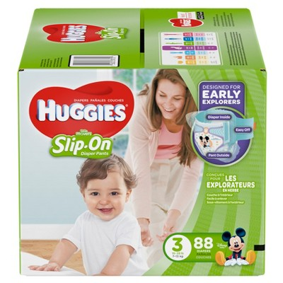 HUGGIES® Little Movers Slip-On® Diaper Pants Super Pack - Size 3  (88 Count)