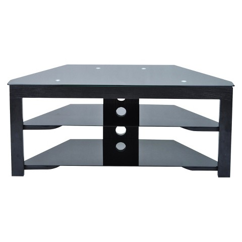 Wood And Glass Tv Stand 43 Convenience Concepts Target