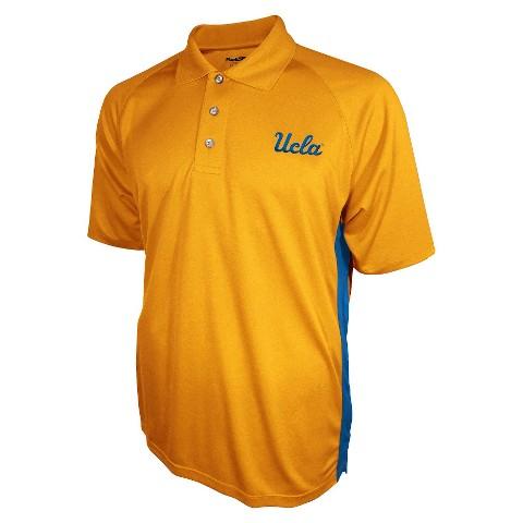 UCLA Bruins Men's 3 Button Polo Yellow