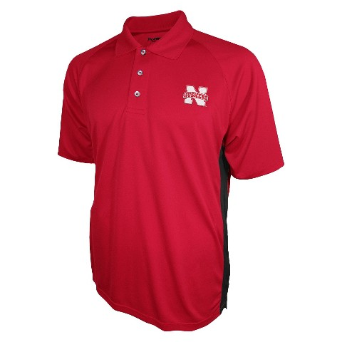 Nebraska Cornhuskers Men's 3 Button Polo Red