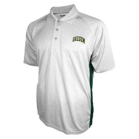 Oregon Ducks Men's 3 Button Polo White