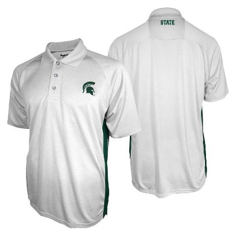 Michigan State Spartans Men's 3 Button Polo White