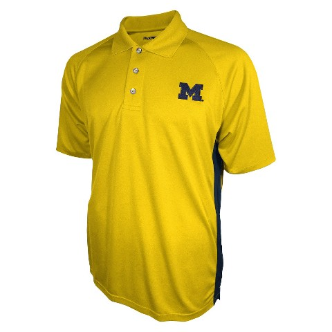 Michigan Wolverines Men's 3 Button Polo Yellow