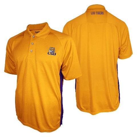 LSU Tigers Men's 3 Button Polo Yellow