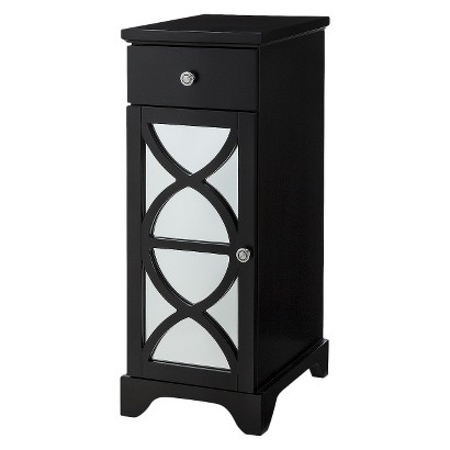 Lattice Bathroom Floor Cabinet - Black