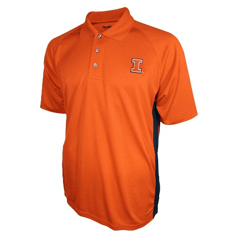 Illinois Fighting Illini Men's 3 Button Polo Orange