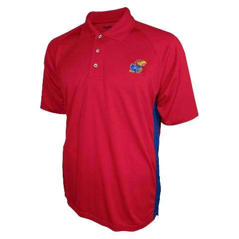 Kansas Jayhawks Men's 3 Button Polo Red