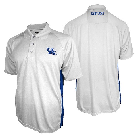 Kentucky Wildcats Men's 3 Button Polo White