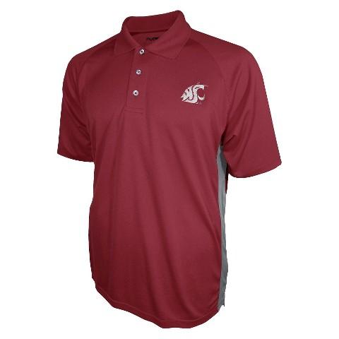 Washington State Cougars Men's 3 Button Polo Red