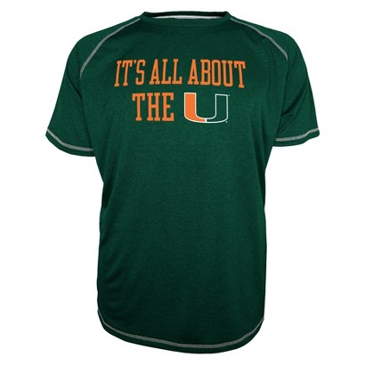 Miami Hurricanes Men's Raglan Green