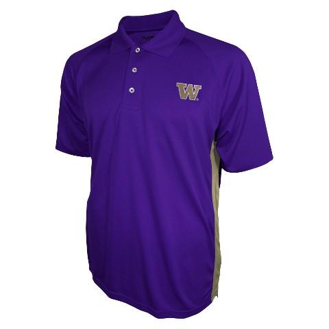 Washington Huskies Men's 3 Button Polo Purple
