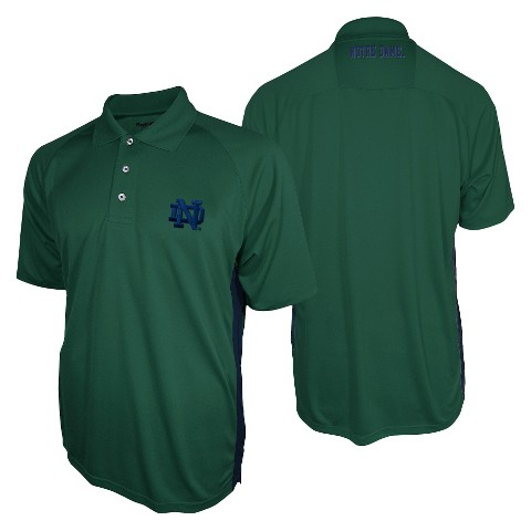 Notre Dame Fighting Irish Men's 3 Button Polo Green