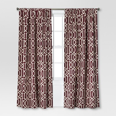 "Threshold™ Farrah Lattice Curtain Panel - Red (54x84"")"