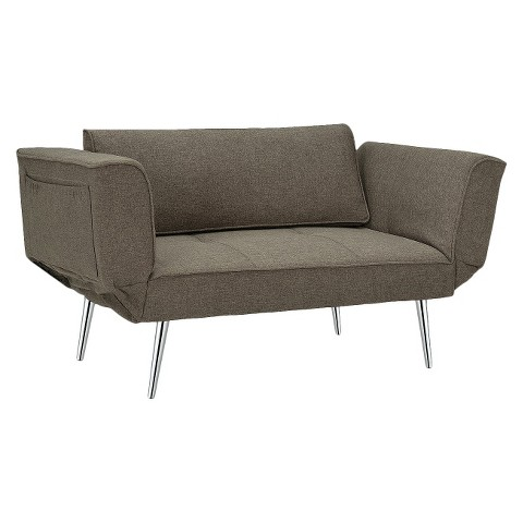 Ameriwood Industries Euro Futon - Gray