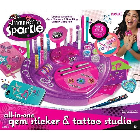 Cra-Z-Art Shimmer 'n Sparkle Gem Sticker & Tattoo Studio