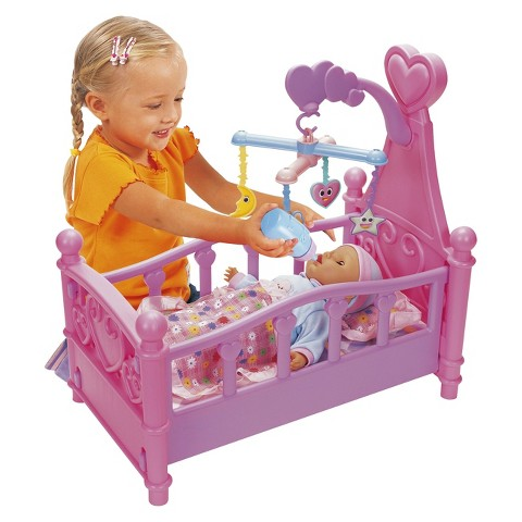 2 in 1 Crib and Cradle Playset