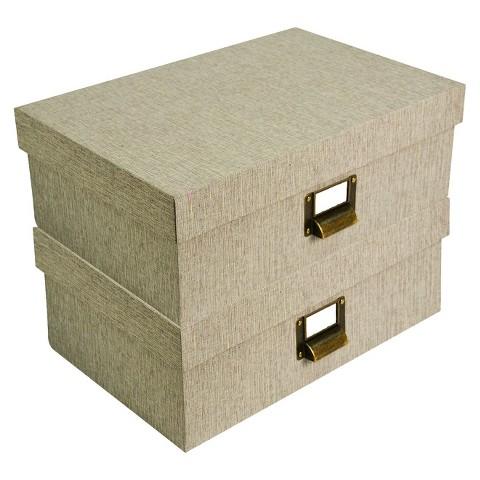 Threshold™ Lidded Decorative Box Set of 2