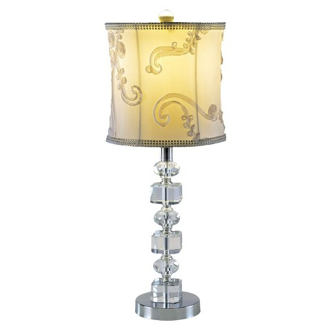 Crystal Accent Lamp - Chrome
