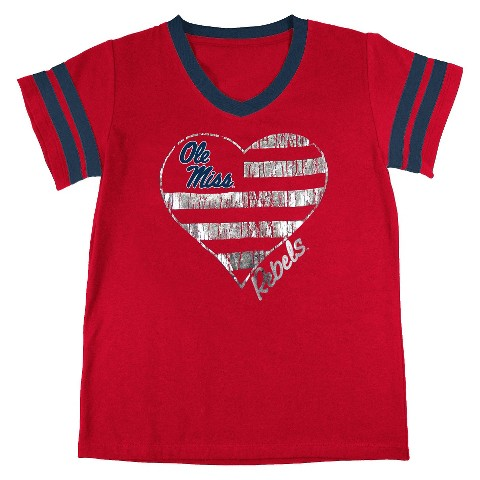 Ole Miss Rebels Girls Tunic- Red