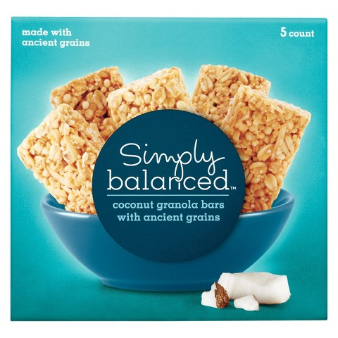 Simply Balanced Coconut Granola Bars with Ancient Grains 5 ct