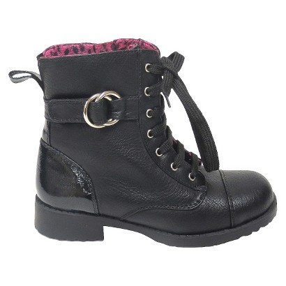 Toddler Girl's Rachel Shoes Lil Peyton Boot - Black