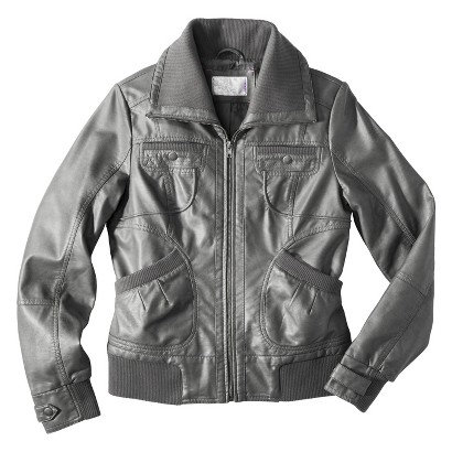 Xhilaration® Junior's Faux Leather Jacket -Assorted Colors