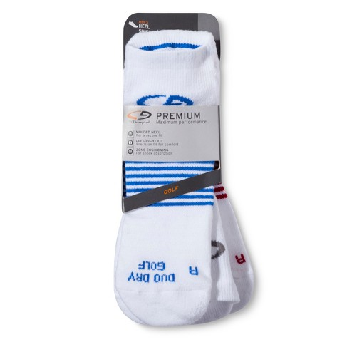 C9 by Champion® Men's Premium Golf Socks with Left/Right Fit and Heel Shield - Assorted Colors