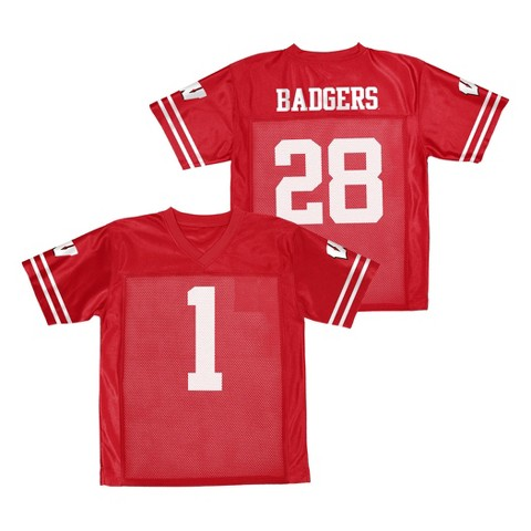 Wisconsin Badgers Boys Jersey- Red