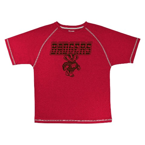 Wisconsin Badgers Boys Short-Sleeve Synthetic Tee - Red