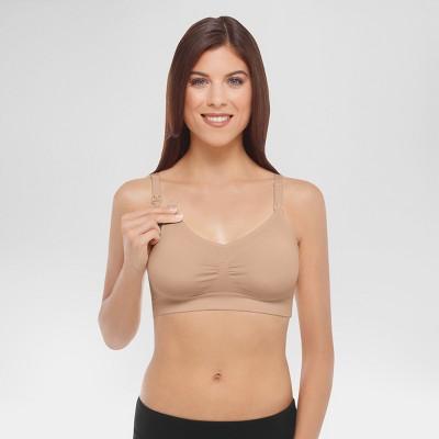 Medela Women's Nursing Seamless Bra Nude L