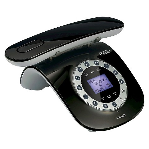 VTech LS6191 DECT 6.0 Expandable Cordless Phone with Bluetooth Connect to Cell, 1 Handset - Black