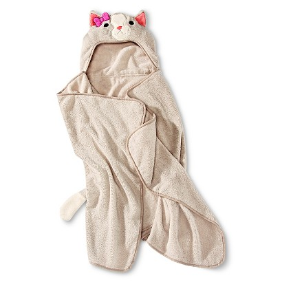 Circo® Cat Hooded Towel - Pebble