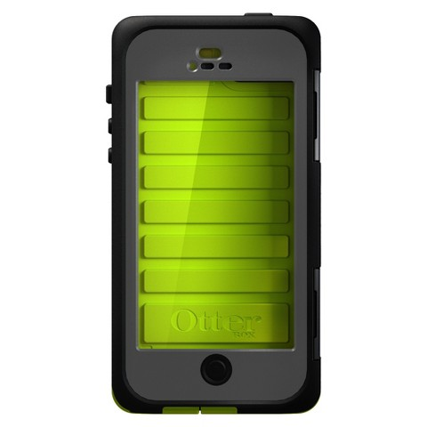 Otterbox Armor Cell Phone Case for iPhone®5 - Black/Green (77-25796P1)