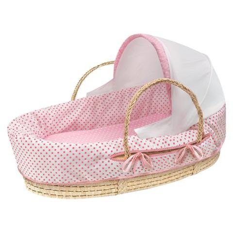 Badger Basket Moses Basket - Pink Dot