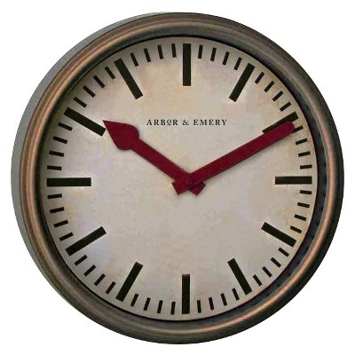 Threshold™ Vintage Wall Clock - Antique Brown