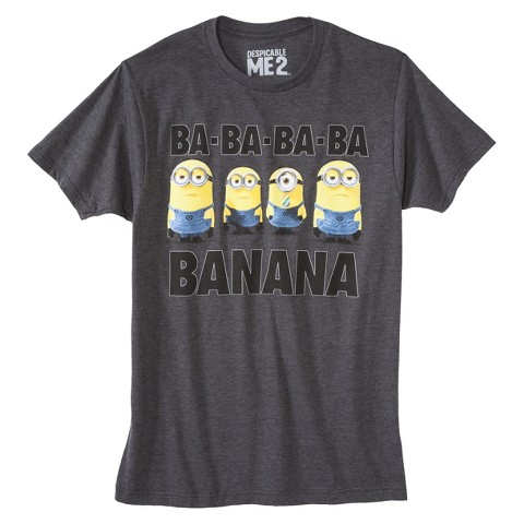 Men's Despicable Me Minions T-Shirt Gray