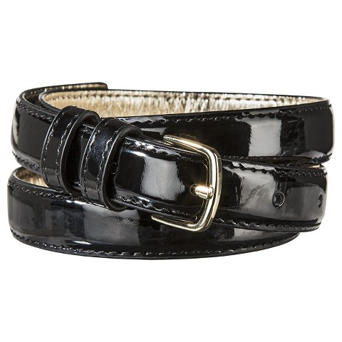 Women's Patent Wide Belt - Black - Merona™