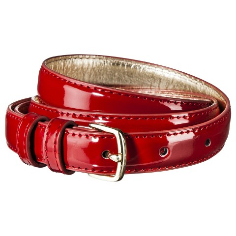 Women's Patent Wide Belt - Red - Merona™