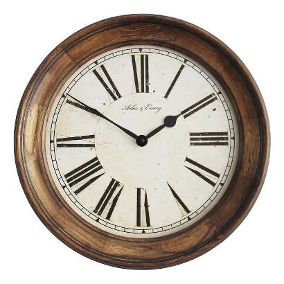 Threshold Wall Clock - Wood
