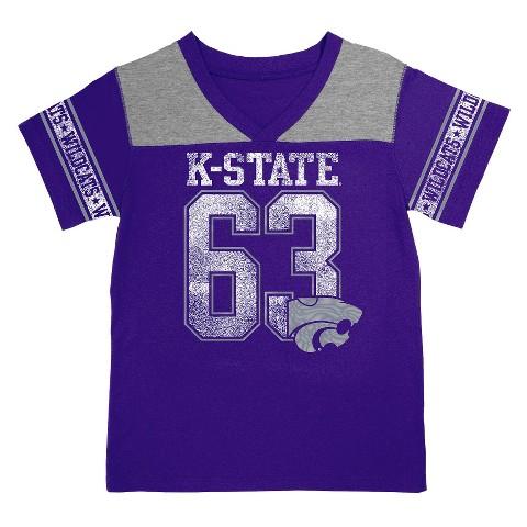 Kansas State Wildcats Girls V-Neck Tee - Purple