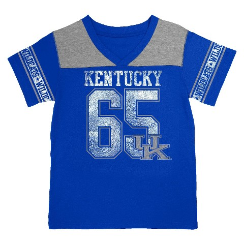 Kentucky Wildcats Girls V-Neck Tee - Blue