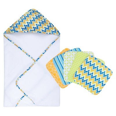 Levi 6pc Hooded Towel and Wash Cloth Set