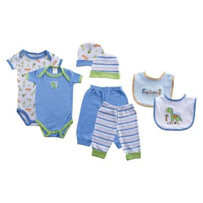 Luvable Friends™ Newborn Boys' 8 Piece Grow With Me Gift Set - Blue 0-6 M