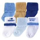 Luvable Friends™ Newborn Boys' 6 Pack I love Mom Socks 0-6 M